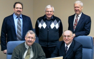 (back l-r) Rev. Arron Gust, Rev. Robert Krestick, Howard Famme. (front) Rev. Nolan Astley (chairman) and Rev. Colin Liske (secretary).